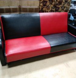 Canapea din piele ecologică nouă