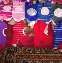 Pălării nou-căști copii 1-3g.