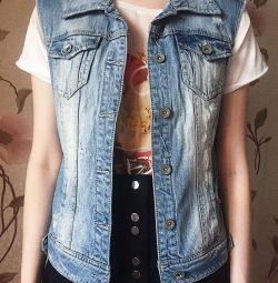 Denim vest Stradivarius