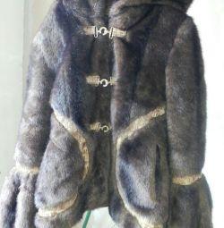 Artificial fur coat. Exchange.42-44.