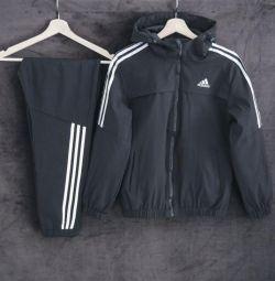 Costum adidas negru / alb