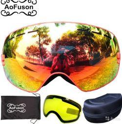Гірськолижна маска окуляри аоfusion набір райдера 003