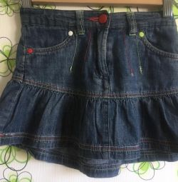 Denim skirt, corduroy, skirt-shorts