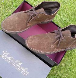 Новые Италия оригинал ботинки кожа-нубук