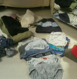A pack of used things for a boy of 1-2 years
