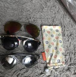 Glasses + case.