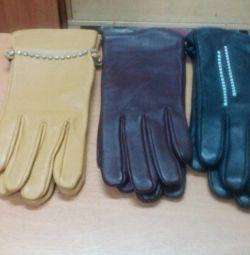 рукавички шкіряні