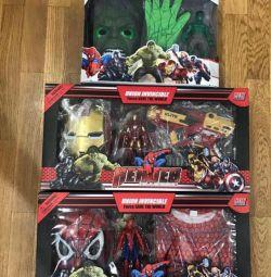 Ο σούπερ ηρώων ορίζει Spider-Man, Hulk, Iron Man