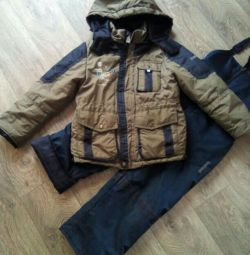 Jachetă cu salopete de 7-10 ani demi-sezon