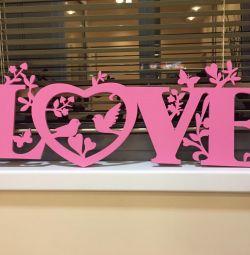 Буквы для свадьбы или фотосессии