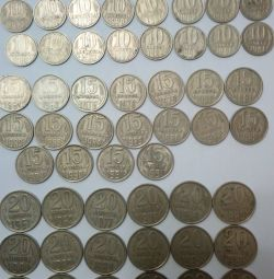 Coins of the USSR 10.15.20 kopecks.
