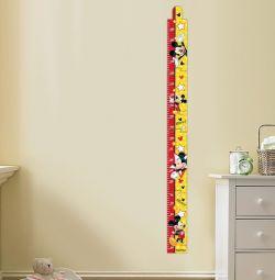 Înălțimea contorului, Mickey Mouse, 150 cm.