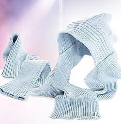 Гетры и шарф-капюшон