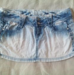 Jeans fusta mini