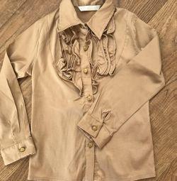 Πουκάμισο (μπλούζα) για ένα κορίτσι