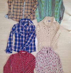 Сорочки в клітку, блузи 40-46