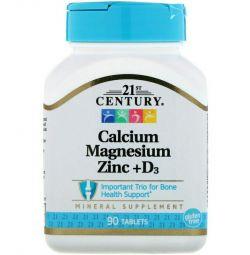 Комплекс витаминов кальций, магний, цинк, Д3