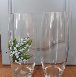 Вазы стекло, керамика