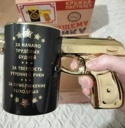 Thermo mug gun gift