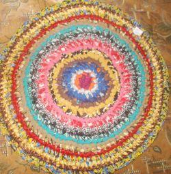 Handmade rug. D-65 cm.