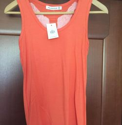 Undershirt new Angel with sequins size 46 orange