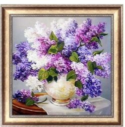 Diamond embroidery mosaic Bouquet Lilacs