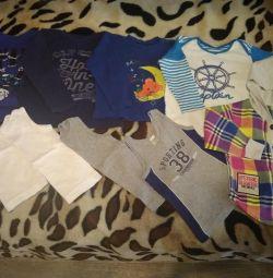 Tricouri, tricouri, jachete de 1-2 ani