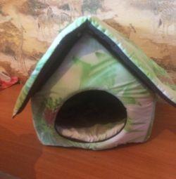 Μικρό σπίτι για μια γάτα ή ένα μικρό σκυλί