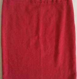 Pencil skirt, wool, r-46