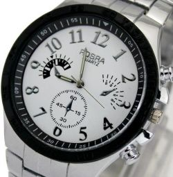 Wrist watch W066, steel