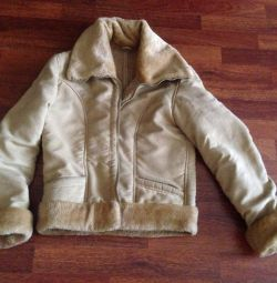 Short sheepskin coat