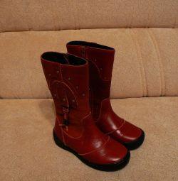 Нові чоботи, р. 27 натур. шкіра + хутро