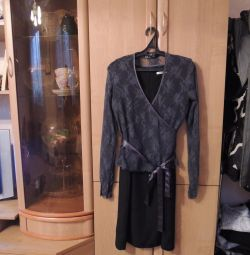 Black dress Berkertex + cape Yaya