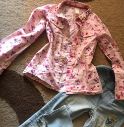 Blouses shirts for girls 4-7 years