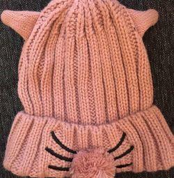 Νέο δροσερό καπέλο με μύτη γατάκι