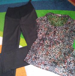 Maternity Blouse and Pants 44-46