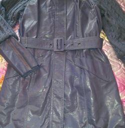 Yağmurluk (ceket) eko-deri. 46 beden