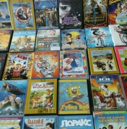 DVD discs with cartoons and fairy tales