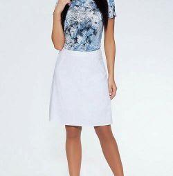 Λευκή καλοκαιρινή φούστα, 44 p, καινούρια