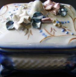 Casket made of ceramics.