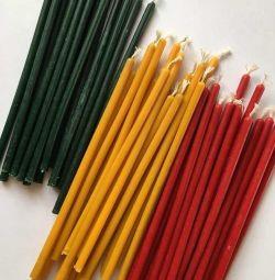 Κεριά κεριά - κίτρινο, κόκκινο, πράσινο