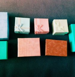 New gift boxes for jewelry