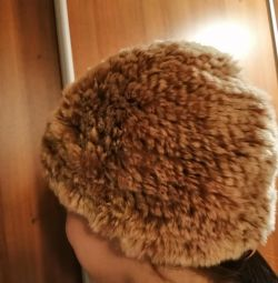 Winter hat from nat rabbit