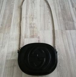 Τσάντα γνήσιο δέρμα GUCCI