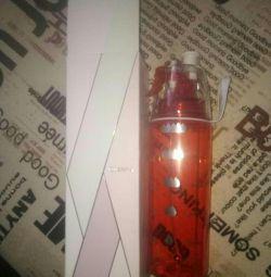 Бутылка для воды 2в1