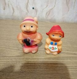 Rubber toys from the set of Little Red Riding Hood USSR