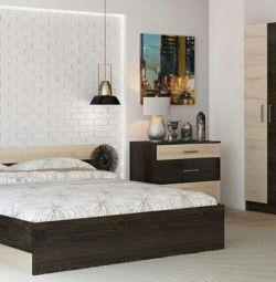 Un set de dormitoare Comfort (pat 1.6, dulapuri-2 bucăți, sertar