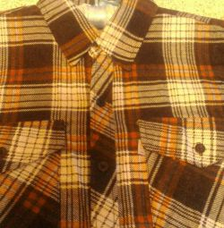 Men's shirt new, warm