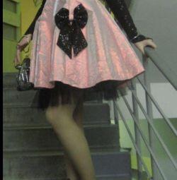 Платье , выпускной.р. 42-46 Перчатки и палантин