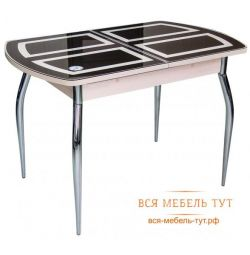 Table sliding Asti-01 oak / glass dark oracal 080